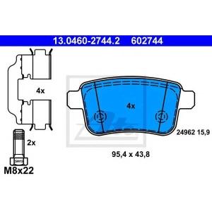Комплект тормозных колодок, дисковый тормоз 13046027442 ate - RENAULT KANGOO Express (FW0/1_) фургон Z.E.
