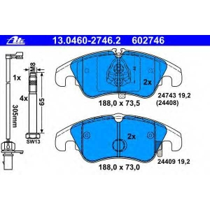 ATE 13.0460-2746.2 Комплект тормозных колодок, дисковый тормоз Ауди А4 Олроад