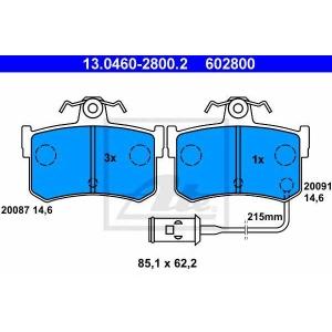 ATE 13.0460-2800.2 Комплект тормозных колодок, дисковый тормоз Акура Легенд
