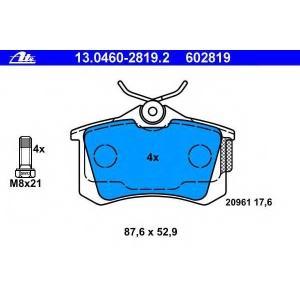 ATE 13.0460-2819.2 Комплект тормозных колодок, дисковый тормоз Ситроен C8