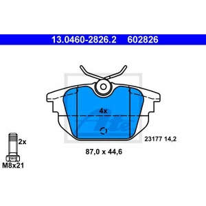ATE 13.0460-2826.2 Комплект тормозных колодок, дисковый тормоз Фиат Купе
