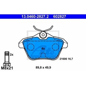 ATE 13.0460-2827.2 Комплект тормозных колодок, дисковый тормоз Лансия