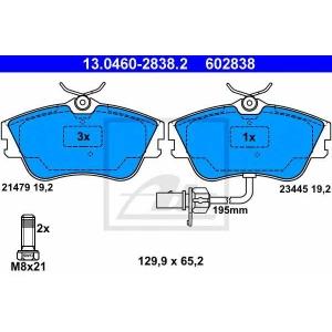Комплект тормозных колодок, дисковый тормоз 13046028382 ate - VW TRANSPORTER IV автобус (70XB, 70XC, 7DB, 7DW) автобус 2.4 D Syncro