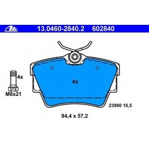 ATE 13.0460-2840.2 Комплект тормозных колодок, дисковый тормоз Опель Виваро