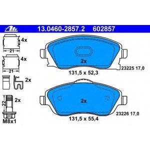 ATE 13.0460-2857.2 Комплект тормозных колодок, дисковый тормоз Опель Тигра