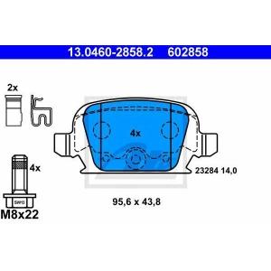ATE 13.0460-2858.2 Комплект тормозных колодок, дисковый тормоз Опель Тигра