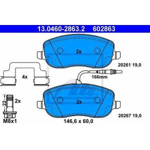 ATE 13.0460-2863.2 Комплект тормозных колодок, дисковый тормоз Ситроен C8