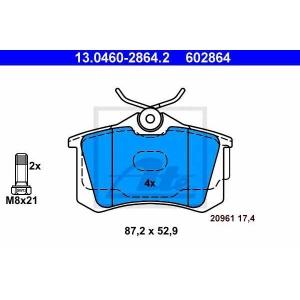 ATE 13.0460-2864.2 Комплект тормозных колодок, дисковый тормоз Ауди А2