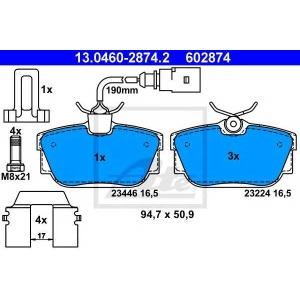 Комплект тормозных колодок, дисковый тормоз 13046028742 ate - VW TRANSPORTER IV автобус (70XB, 70XC, 7DB, 7DW) автобус 2.4 D Syncro