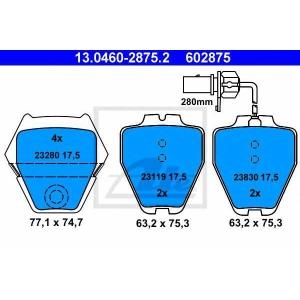 ATE 13.0460-2875.2 Комплект тормозных колодок, дисковый тормоз Ауди Оллроад