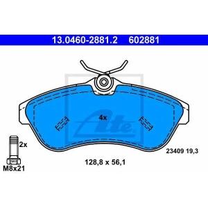 ATE 13.0460-2881.2 Комплект тормозных колодок, дисковый тормоз Ситроен С3 Плюриель