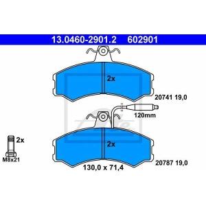 ATE 13.0460-2901.2 Комплект тормозных колодок, дисковый тормоз Фиат Таленто