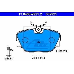 ATE 13.0460-2921.2 Комплект тормозных колодок, дисковый тормоз Бмв З1