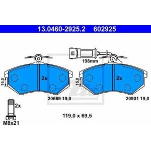 ATE 13.0460-2925.2 Комплект тормозных колодок, дисковый тормоз Ауди Куаттро