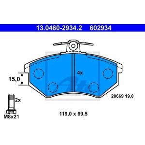 ATE 13.0460-2934.2 Комплект тормозных колодок, дисковый тормоз Ауди Кабриолет