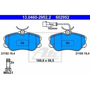 ATE 13.0460-2952.2 Комплект тормозных колодок, дисковый тормоз Лансия