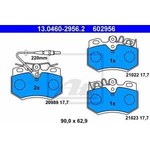 ATE 13.0460-2956.2 Комплект тормозных колодок, дисковый тормоз