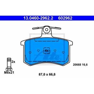 ATE 13.0460-2962.2 Комплект тормозных колодок, дисковый тормоз Лансия