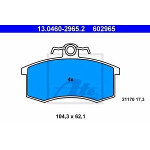 ATE 13.0460-2965.2 13.0460-2965.2  ATE - Гальмівні колодки до дисків