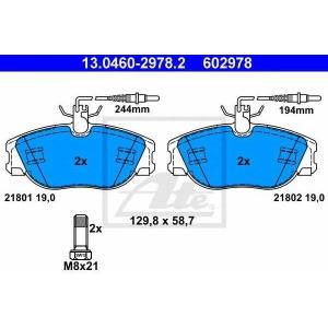 ATE 13.0460-2978.2 Комплект тормозных колодок, дисковый тормоз Лансия
