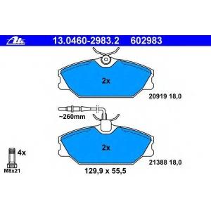ATE 13.0460-2983.2 Комплект тормозных колодок, дисковый тормоз Рено Сафране