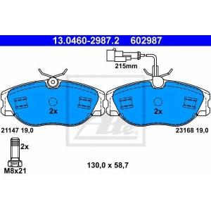 ATE 13.0460-2987.2 Комплект тормозных колодок, дисковый тормоз Лансия