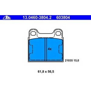 ATE 13.0460-3804.2 Комплект тормозных колодок, дисковый тормоз Мерседес С-Класс