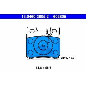 Комплект тормозных колодок, дисковый тормоз 13046038052 ate - MERCEDES-BENZ 190 (W201) седан E Evolution II 2.5