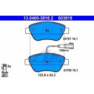 ATE 13.0460-3818.2 Комплект тормозных колодок, дисковый тормоз Фиат Линеа