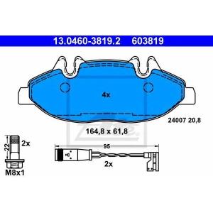 ATE 13.0460-3819.2 Комплект тормозных колодок, дисковый тормоз Мерседес Виано