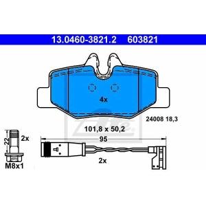 ATE 13.0460-3821.2 Комплект тормозных колодок, дисковый тормоз Мерседес Виано