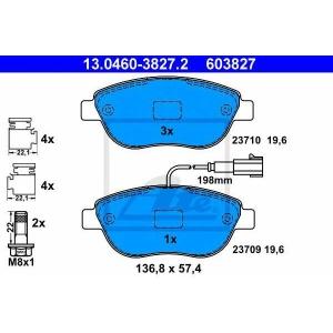 Комплект тормозных колодок, дисковый тормоз 13046038272 ate - FIAT DOBLO Cargo (263) фургон/универсал 1.6 D Multijet