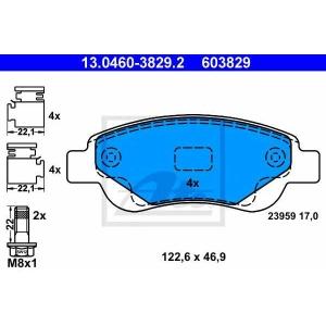 ATE 13.0460-3829.2 Комплект тормозных колодок, дисковый тормоз Ситроен С1