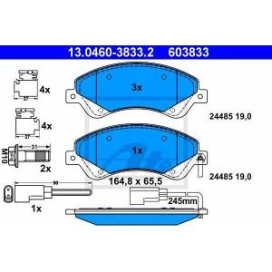 ATE 13.0460-3833.2 Комплект тормозных колодок, дисковый тормоз Форд Транзит Торнео