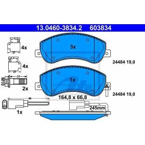 ATE 13.0460-3834.2 Комплект тормозных колодок, дисковый тормоз Форд Транзит Торнео