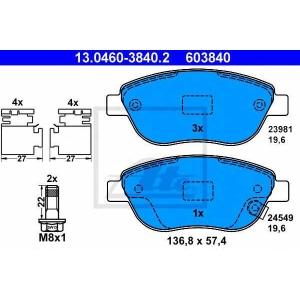 ATE 13.0460-3840.2 Комплект тормозных колодок, дисковый тормоз Фиат 500Л