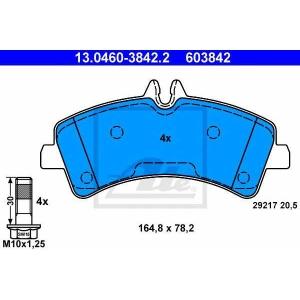 Комплект тормозных колодок, дисковый тормоз 13046038422 ate - MERCEDES-BENZ SPRINTER 5-t c бортовой платформой/ходовая часть (906) c бортовой платформой/ходовая часть 513 CDI 4x4 (906.135, 906.155, 906.253, 906.255)