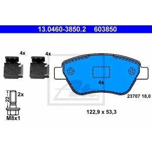 ATE 13.0460-3850.2 Комплект тормозных колодок, дисковый тормоз Фиат