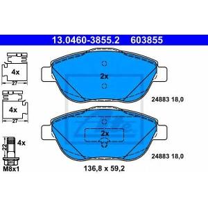 ATE 13.0460-3855.2 Комплект тормозных колодок, дисковый тормоз Ситроен Дс3