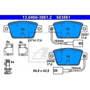 ATE 13.0460-3861.2 Комплект тормозных колодок, дисковый тормоз Фиат Мултипла