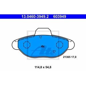 ATE 13.0460-3949.2 Комплект тормозных колодок, дисковый тормоз Фиат