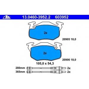 ATE 13.0460-3952.2 Комплект тормозных колодок, дисковый тормоз Ситроен Ах