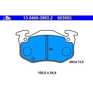 ATE 13046039532 Комплект тормозных колодок, дисковый тормоз