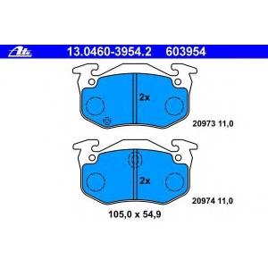 ATE 13.0460-3954.2 Комплект тормозных колодок, дисковый тормоз Рено 11