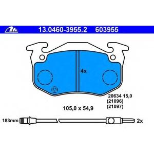 ATE 13.0460-3955.2 Комплект тормозных колодок, дисковый тормоз Рено Рапид