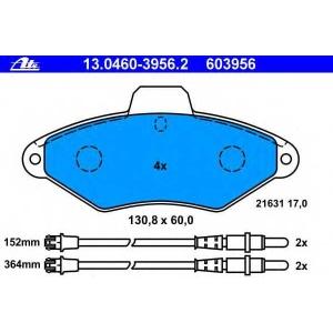 ATE 13.0460-3956.2 Комплект тормозных колодок, дисковый тормоз Ситроен Ксантия Брейк