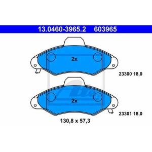 ATE 13.0460-3965.2 Комплект тормозных колодок, дисковый тормоз Форд Орион