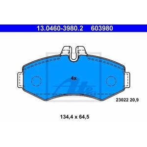 Комплект тормозных колодок, дисковый тормоз 13046039802 ate - MERCEDES-BENZ VITO автобус (638) автобус 108 D 2.3 (638.164)