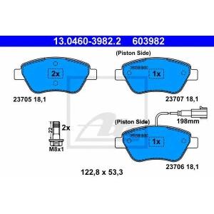 ATE 13.0460-3982.2 Комплект тормозных колодок, дисковый тормоз Фиат