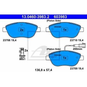 ATE 13.0460-3983.2 Комплект тормозных колодок, дисковый тормоз Фиат